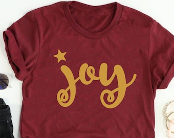 JOY tee // Joy Christmas tee // Joy Shirt // Joy Christmas Shirt // Christmas Shirt // Women's Christmas Shirt // Women's Joy Shirt