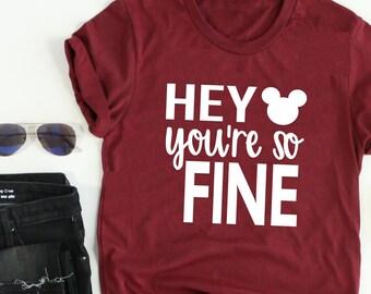 f881f624 Hey Mickey You're So Fine // LOVE Disney // Funny Disney // Disney Shirt //  Women's Disney Tee // I love Mickey // Funny Women's Disney