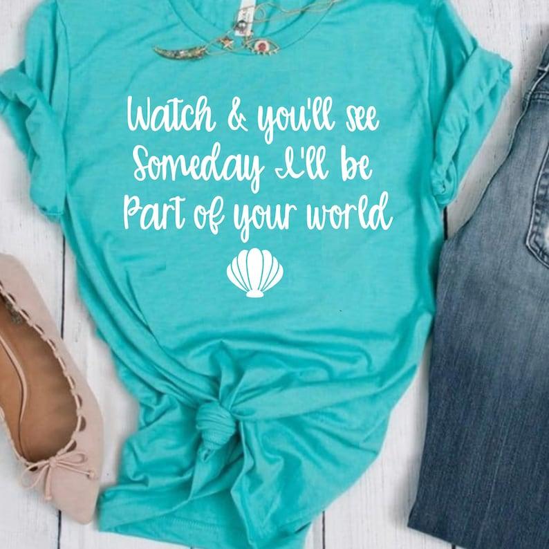 70457ec28 Little Mermaid Part of your world Shirt // Disney Shirt //   Etsy