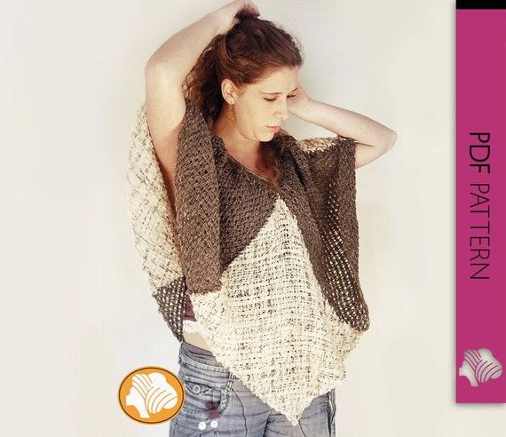 Poncho de lana mariposa nocturna patrón PDF descarga  3a9f1d800a2