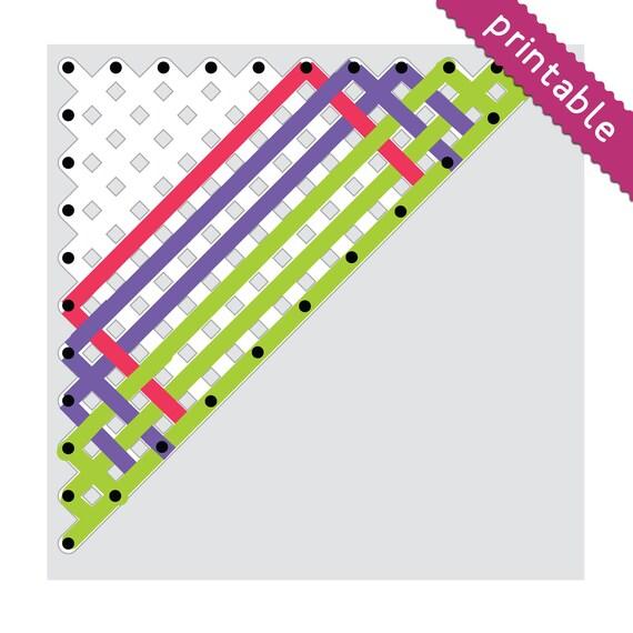 Diagrama imprimible telar bastidor triangular en 6 tamaños | Etsy