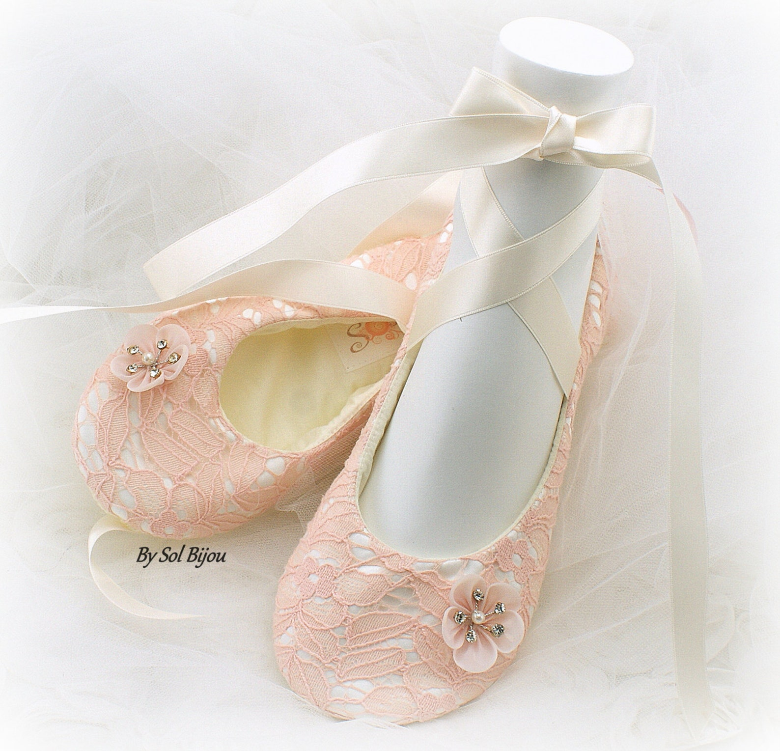 wedding ballet shoes blush ivory lace elegant ballet slippers flats shoes