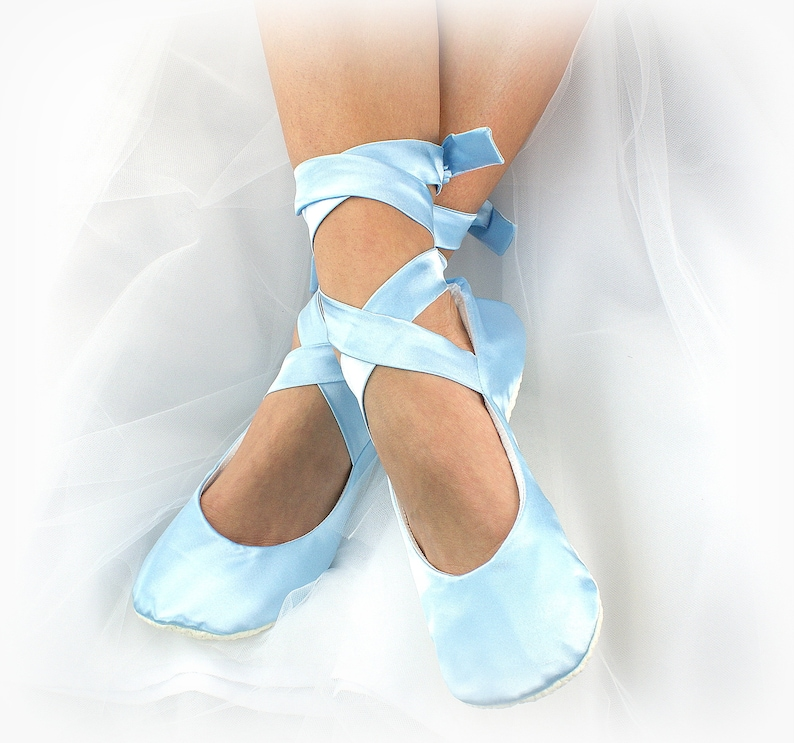 6740382943b Wedding Ballet Slippers Light Blue Something Blue Ballet Flats