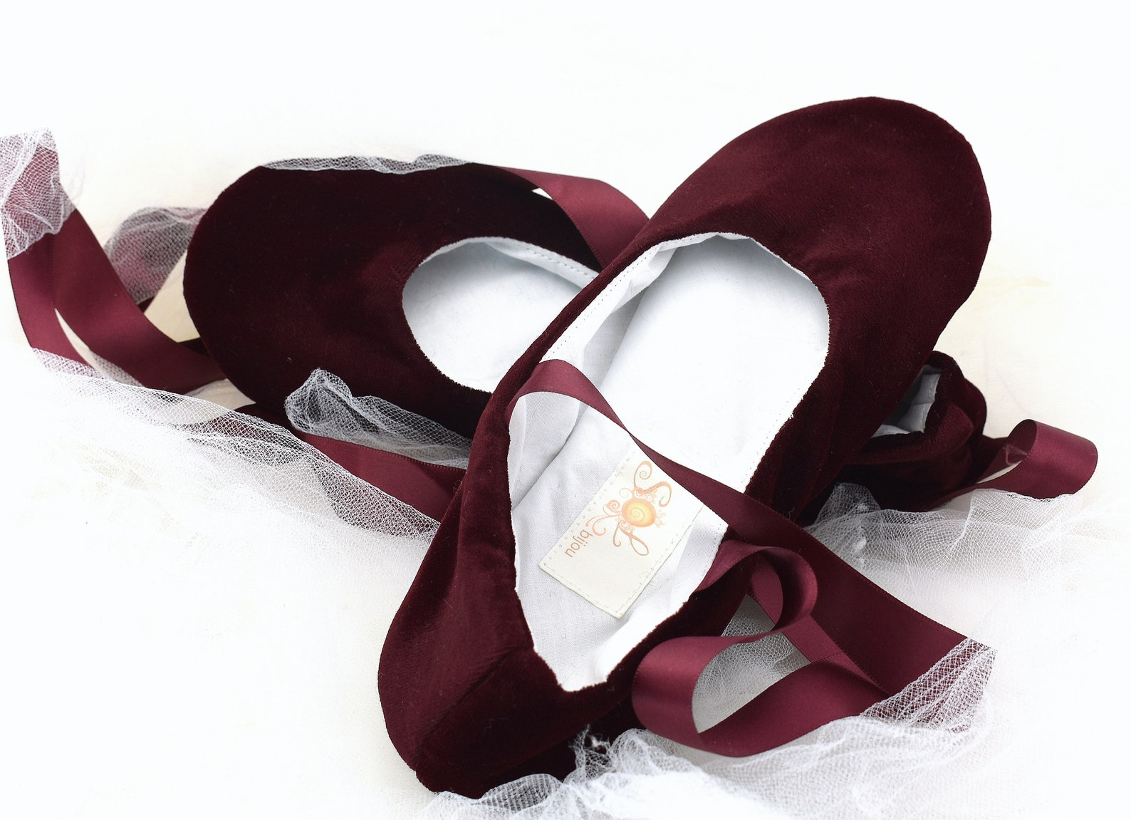 burgundy suede bridal shoes wedding ballet flats with satin ties slippers flats