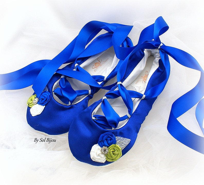9eeb63f72a8 Wedding Ballet Flats Shoes Royal Blue Green Cobalt Blue Bridal Flats Shoes  Elegant Celtic Ballet Slippers Flower Girl Flats