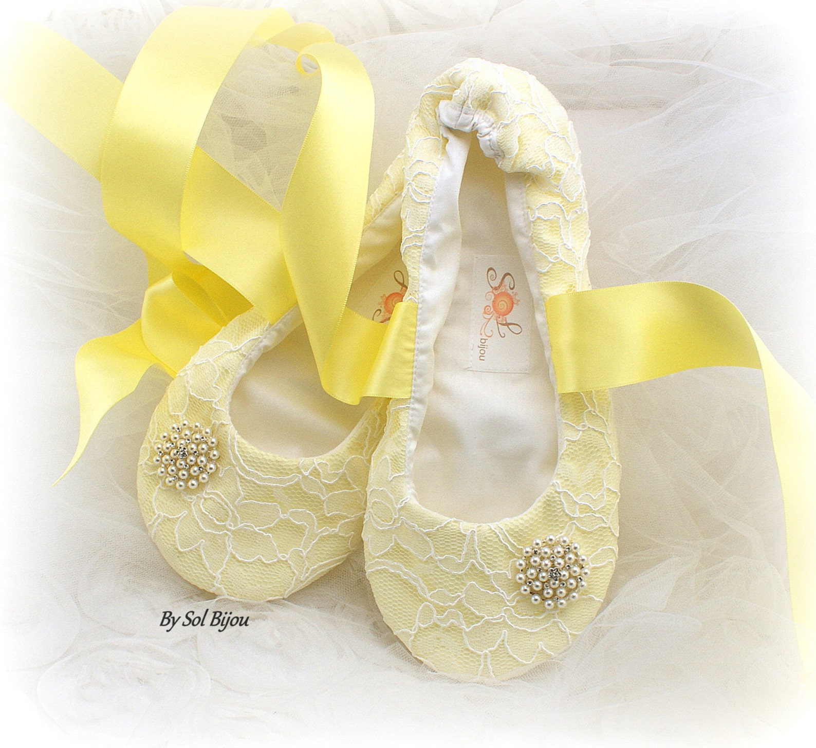 yellow ballet flats,beaded flats,flats with crystal,ballet slippers,flower girl flats,lace ballet flats,ivory,elegant wedding,vi