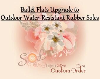 Outdoor Rubber Water-Resistant Soles (Ballet Flats upgrade)