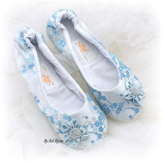 ba67b95f2f1 Something Blue Wedding Ballet Shoes Bridal Satin Ballet