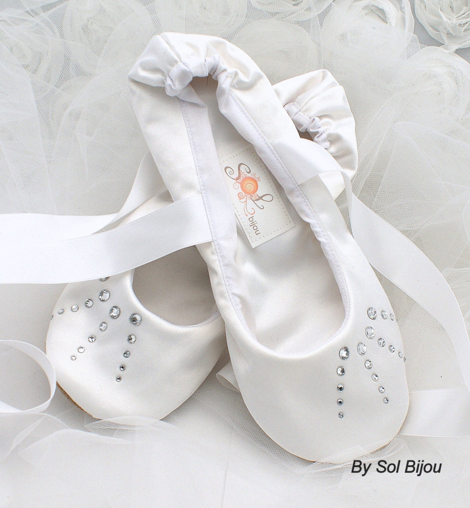 crystal ballet flats, white flats, wedding, shoes, flower girl, first communion, ballerina slippers, shoes, white, satin, crysta