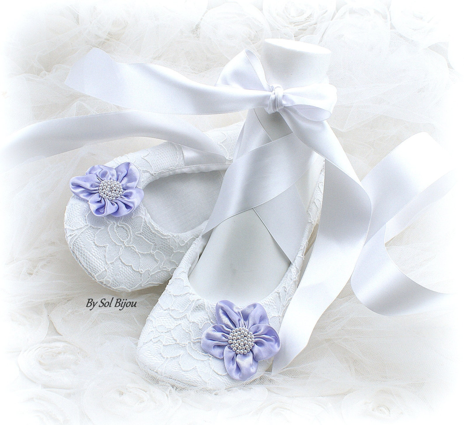 white wedding flats,lilac,white ballet flats,lace flats,ballet slippers,flower girl flats,maid of honor,elegant wedding,lace up