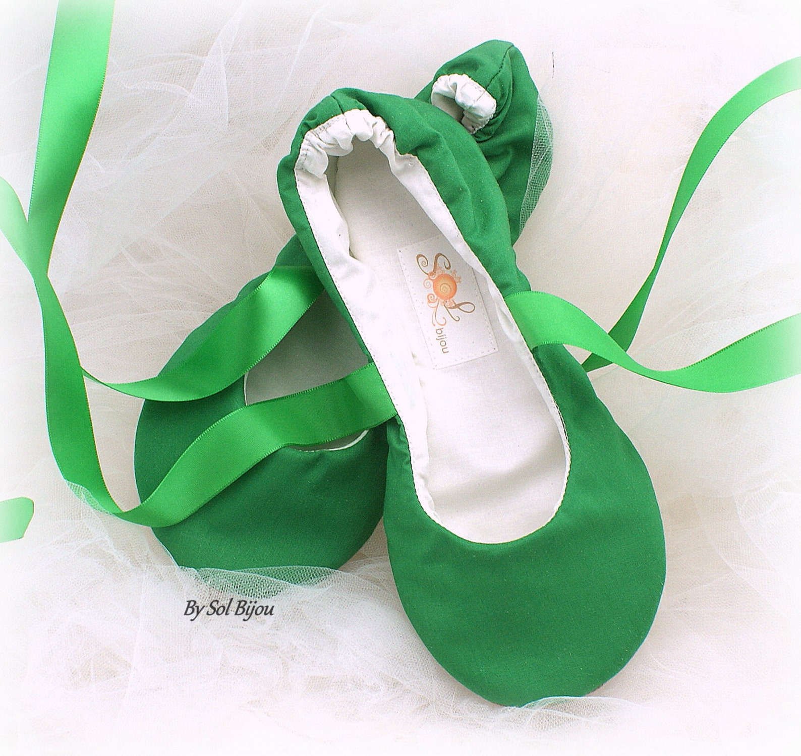 green ballet shoes flats, moss green, green ballet slippers, green wedding flats, irish green flats, lace ballet shoes, custom w