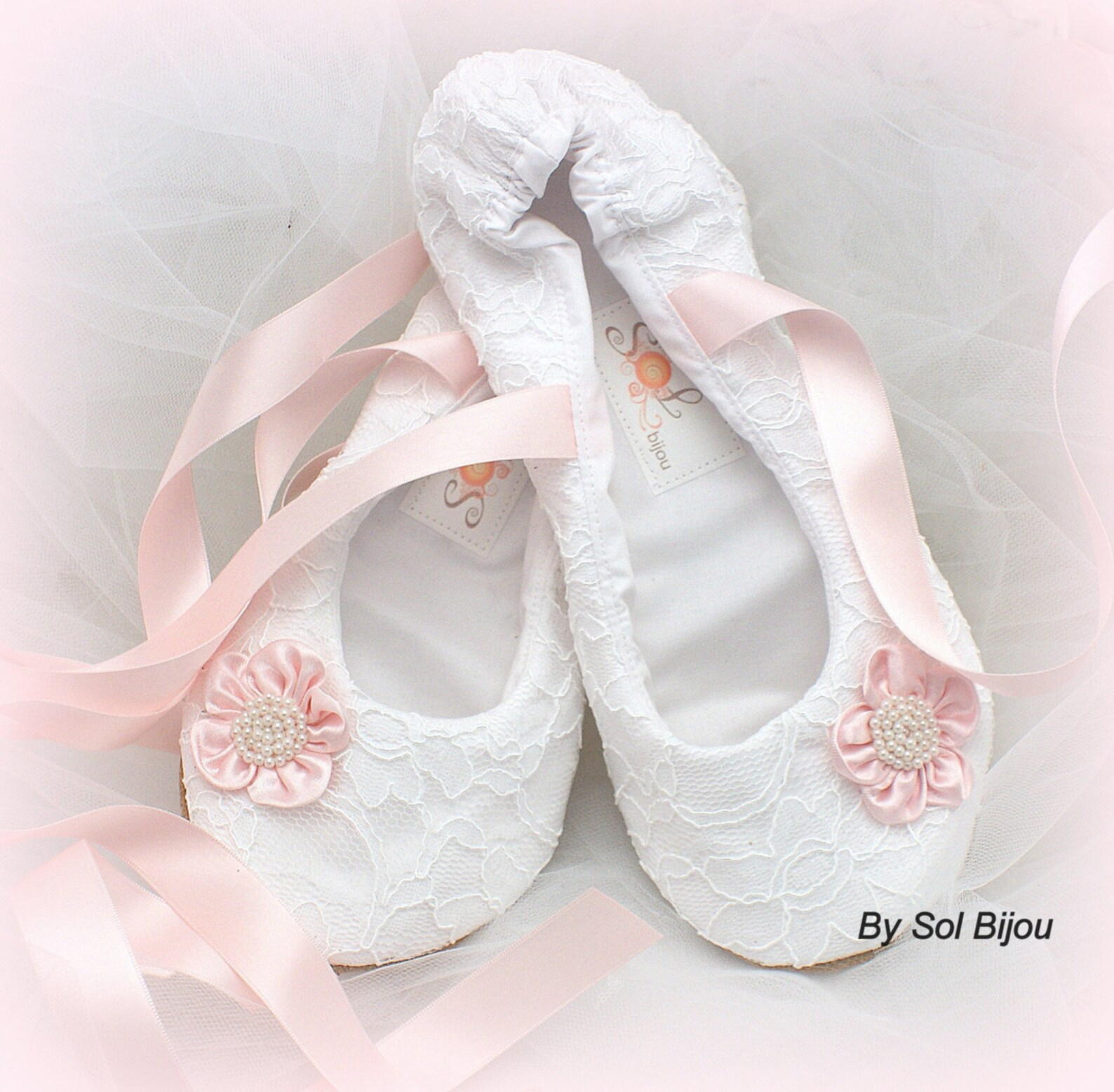 white and pink wedding ballet shoes, lace wedding shoes, ballet slippers, custom bridal shoes, wedding ballet flats
