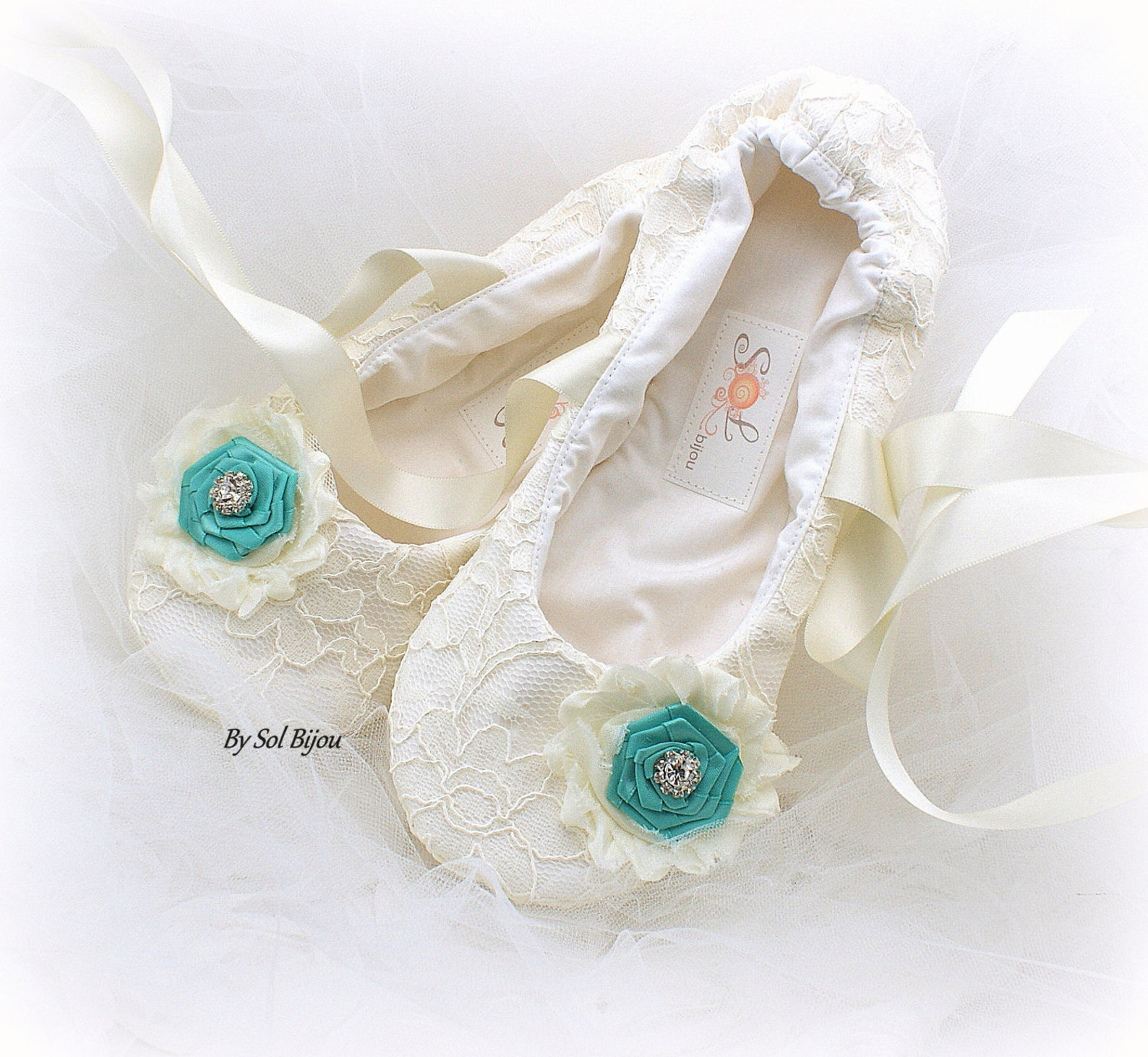lace ballet flats,ivory and turquoise,aqua blue,ballet slippers,ballet flats,wedding, ballerina slippers,flower girl flats,vinta