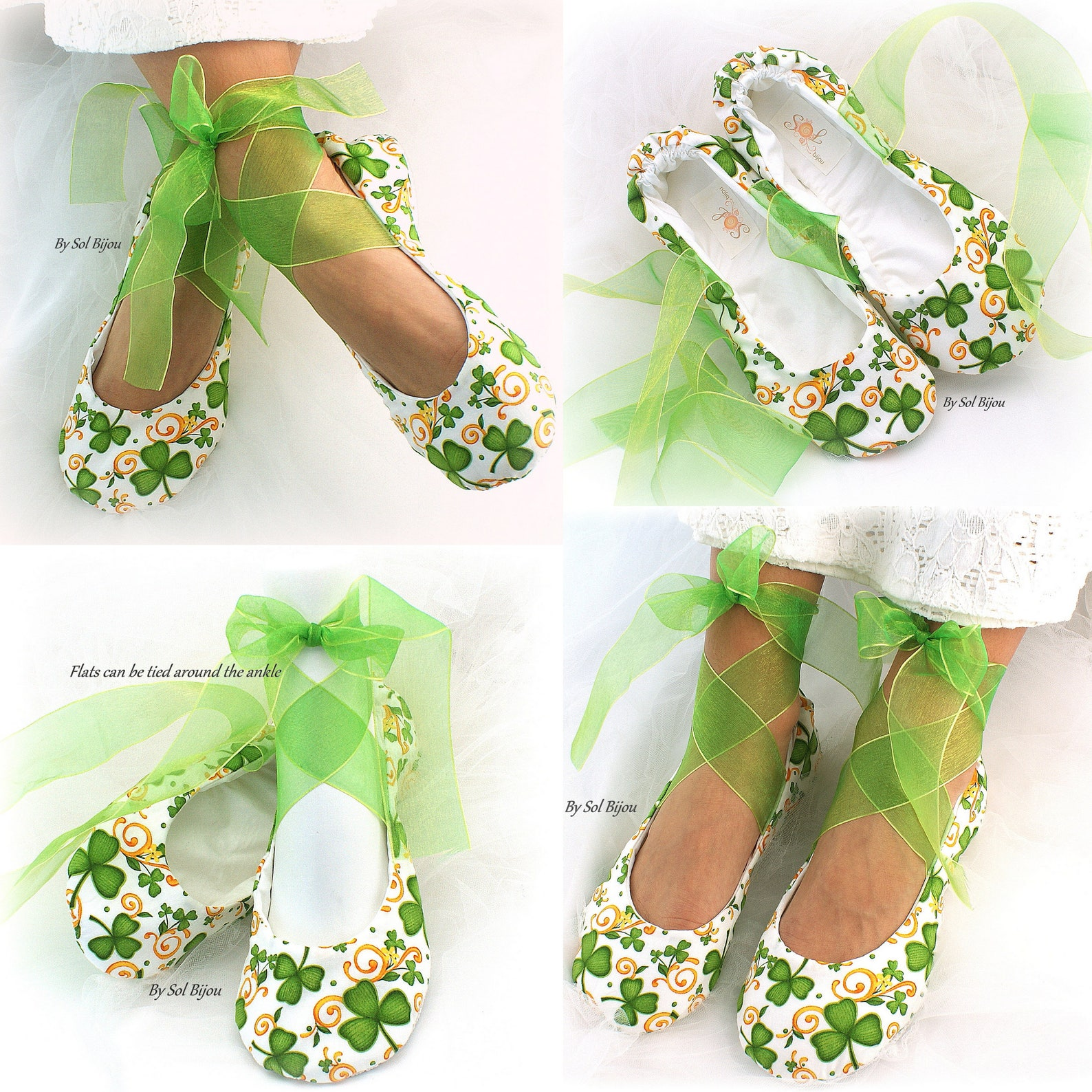 emerald green and ivory bride ballet slippers lace shoes for brides