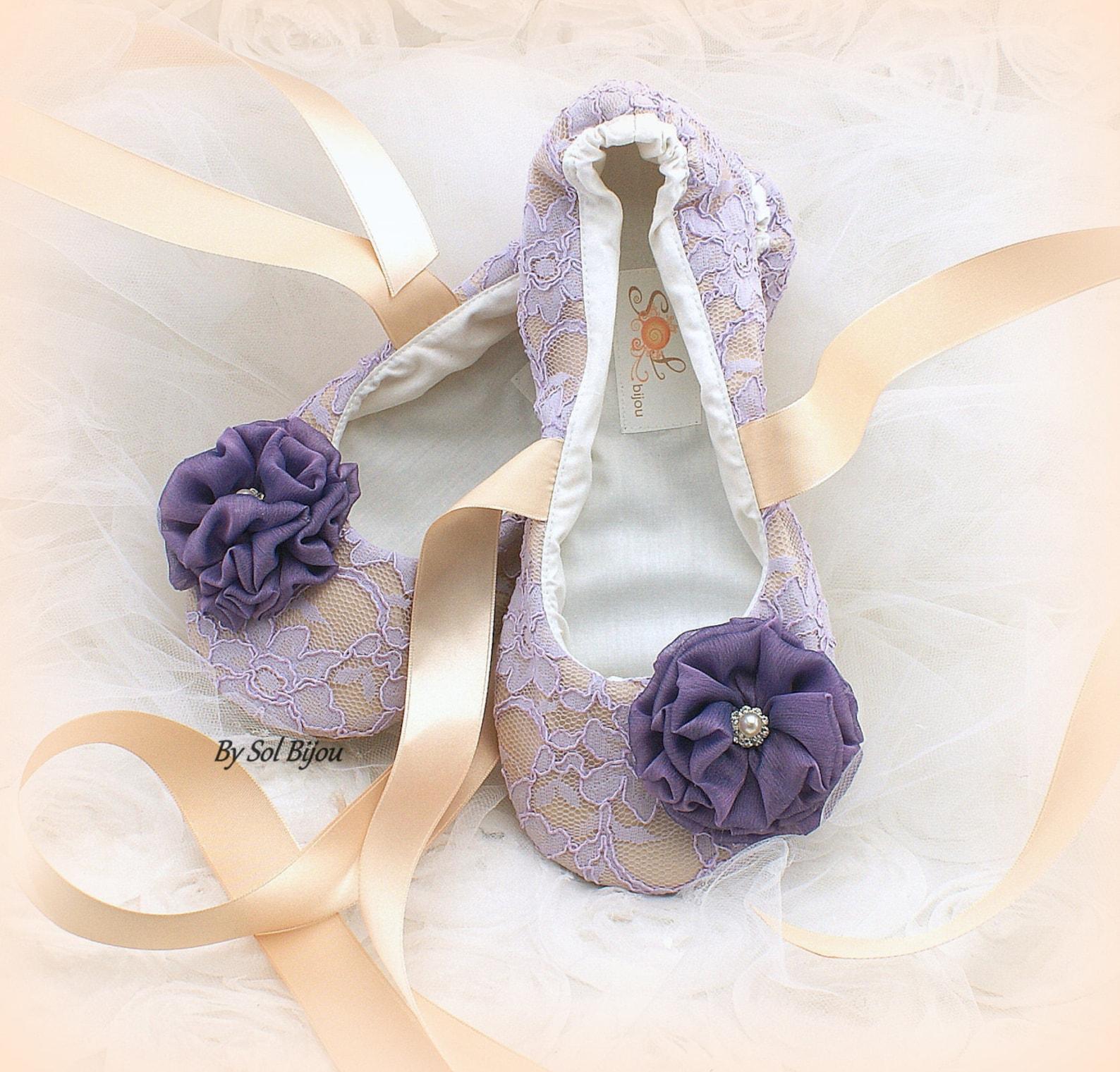 lilac and gold flats, ballet flats, champagne, purple, wedding flats, lace ballet flats, ballet slippers, elegant wedding, vinta