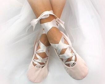 Blush Women Bridal Ballet Shoes Velvet Celtic Style Wedding Flats Slippers for Brides