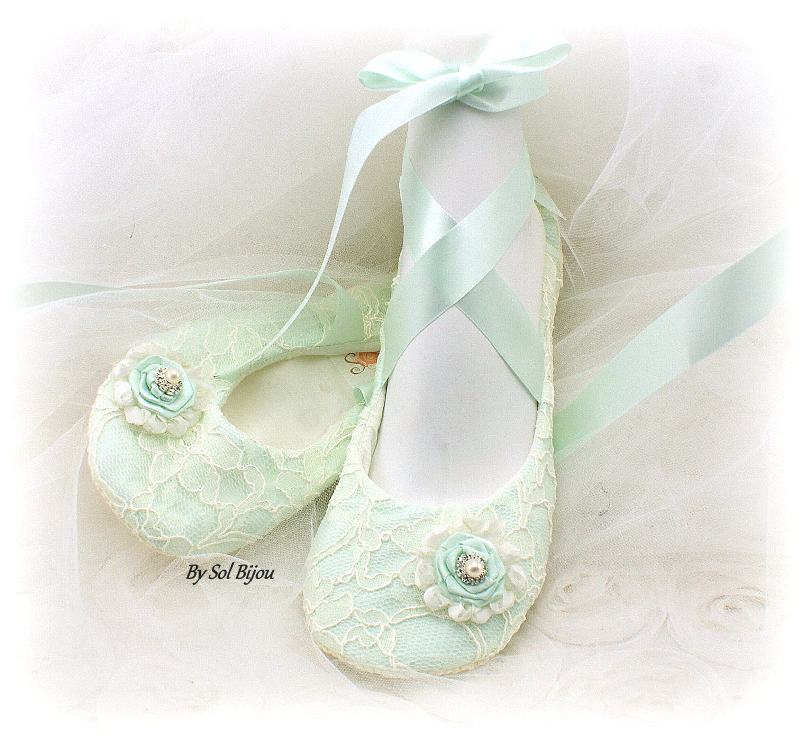 mint ballet flats,mint green flats,ivory,lace ballet flats,ballet slippers,elegant wedding,bridal flats,wedding shoes,flower gir