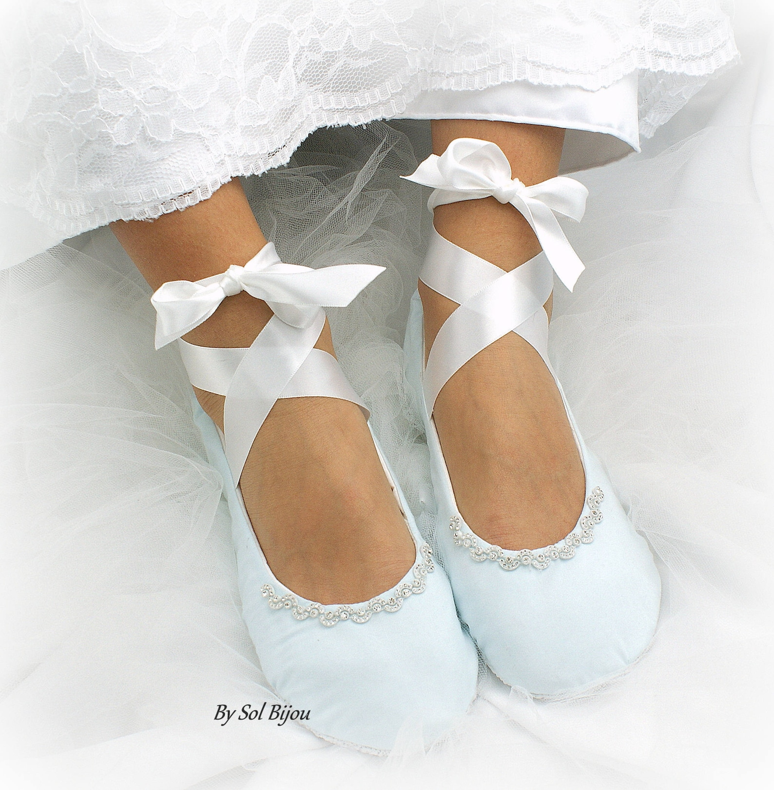 wedding ballet flats something blue white bridal shoes wedding flats shoes flats with flowers blue ballet slippers shoes custom