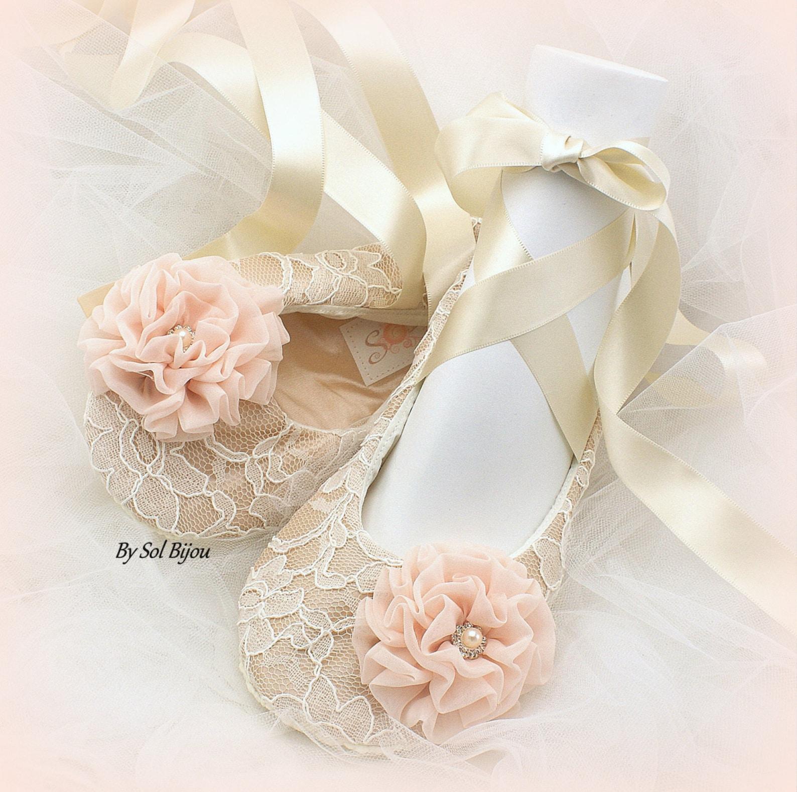 wedding flats,champagne,ivory,blush,rose,gold,ballet flats,elegant wedding,lace flats, bridal,ballerina slippers, crystals, vint