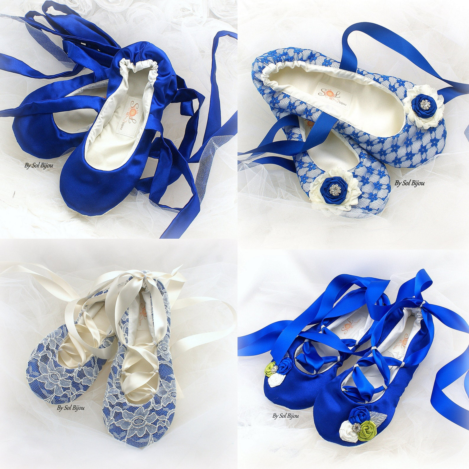 royal blue ivory wedding ballet flats shoes ballet shoes celtic bridal flats lace shoes for brides custom ballet flats