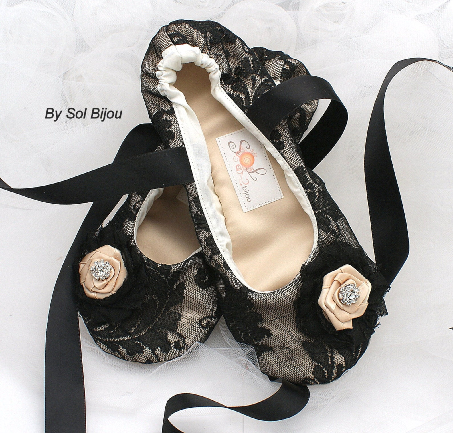 black lace ballet slippers elegant lace wedding shoes with satin ribbon ties