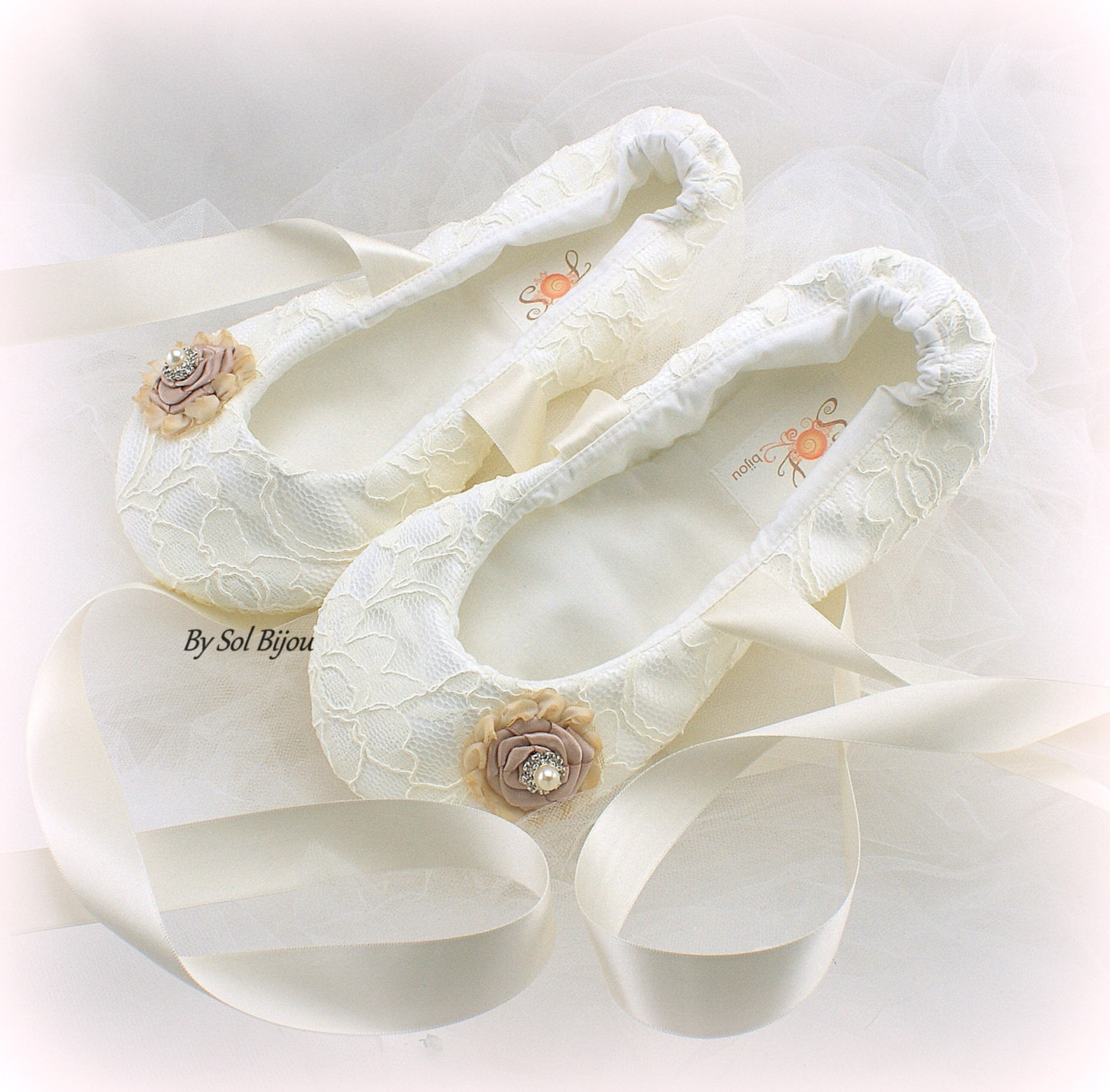 wedding flats, ivory, rose, blush, champagne, gold, ballet flats, bridal shoes, lace flats, ballet slippers, flower girl, vintag