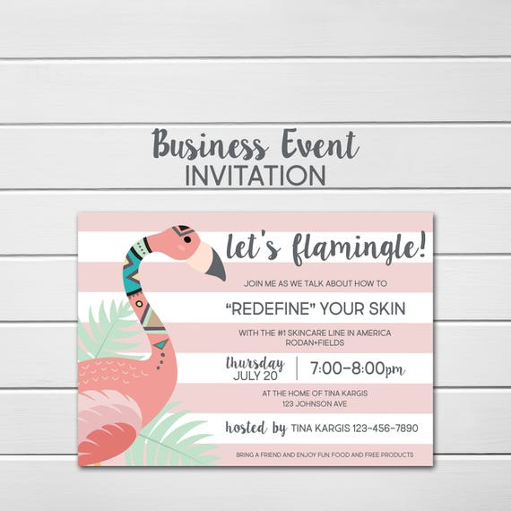 Rodan And Fields Invitation Custom Party Invite Bbl Etsy