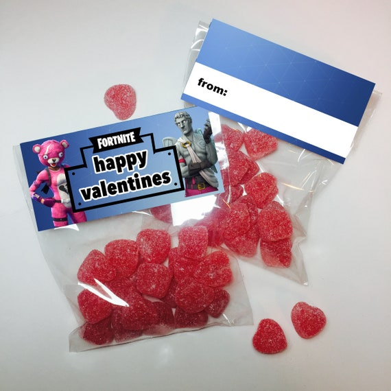 Fortnite Valentines Day Treat Bag Toppers Valentines Day Etsy