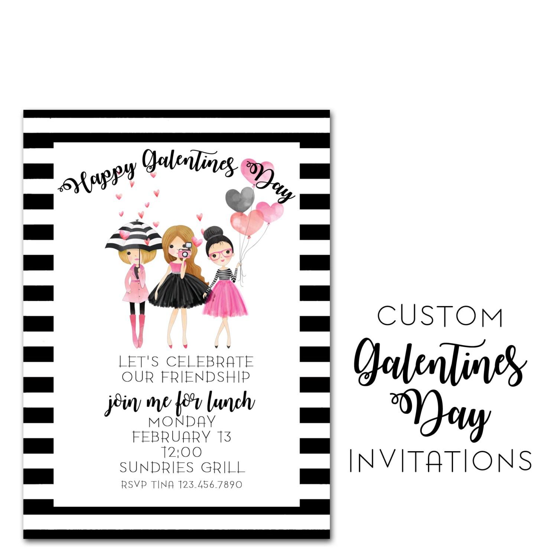 Galentines Day Invitation Custom Valentines Day Invite 5x7