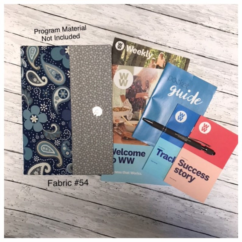 WW® Weight Watchers® 2019 FreeStyle™ ~ Custom Made DELUXE ORGANIZER for  Weekly Handouts ~ Weigh In Record ~ Program Booklets ~ 64 Fabrics