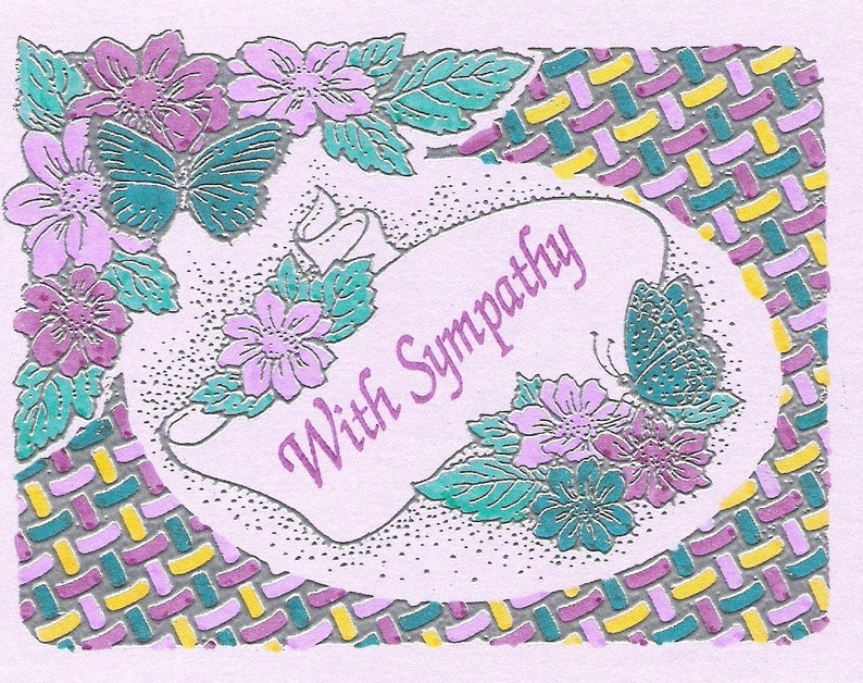 Butterfly Frame-Available in Sympathy or Blank