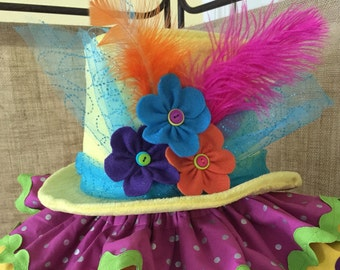 Boutique Style Clown Top Hat