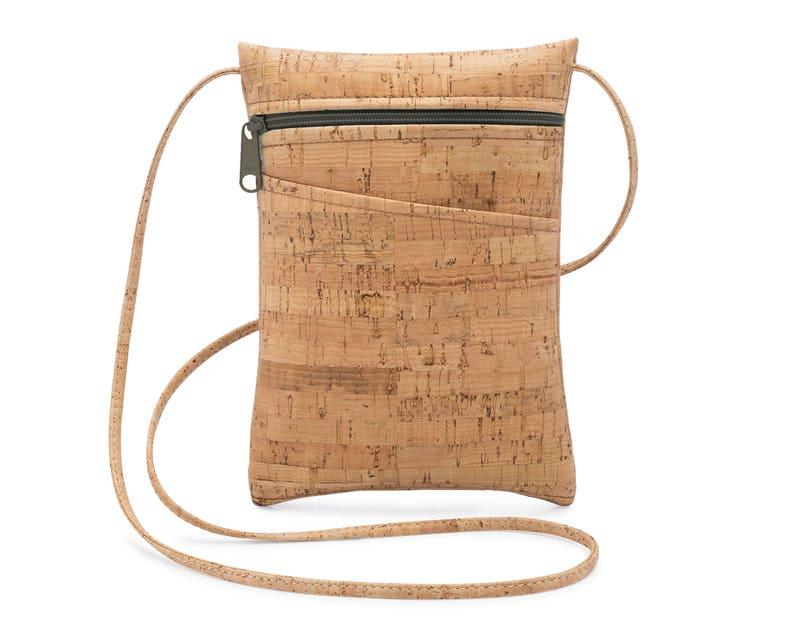 075777209a57 Cork Cross Body Bag, Mini Cross Body Bag, Travel Bag, Cell Phone Bag