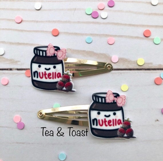 Nutella Snap Clips Kawaii