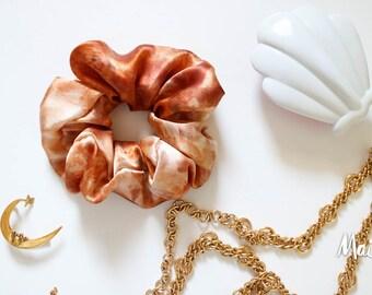 Eco Dye Silk Satin Oversize style Hair Scrunchie, snag-free scrunchy