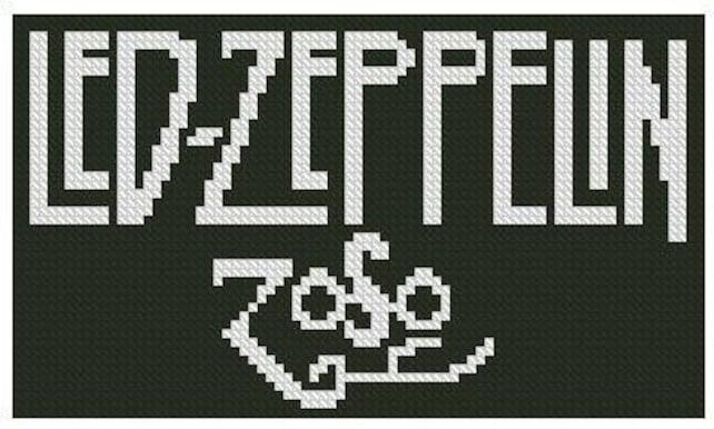 Led Zeppelin Zoso Cross Stitch Kit Etsy