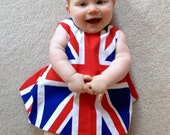 Items Similar To Royal Baby Baby Toddler Reversible Union Jack Open Back Baby Top And