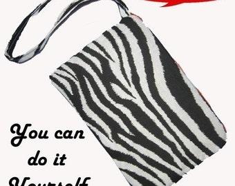 Simple Wristlet tutorial - How to make a Wristlet - PDF file Instant Download - zipper bag pattern