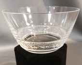 Saint Hubert Crystal Finger Bowl from Lalique