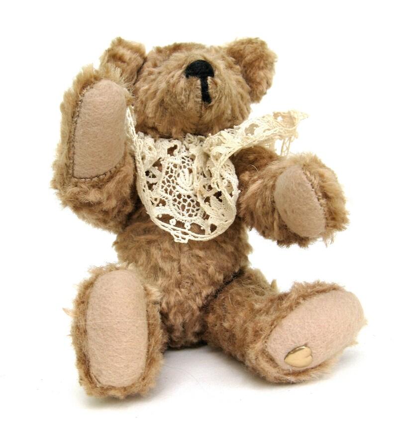 vintage  mohair teddy  .. vintage artisan hand made teddy bear