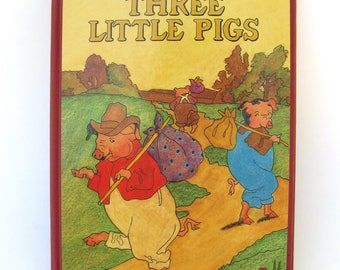 three little pigs   ...   vintage book ...  classic childrens book