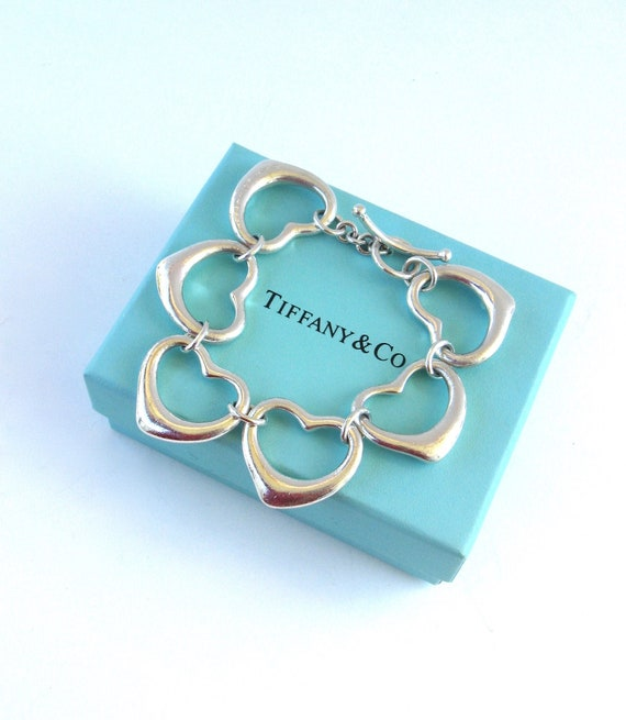 af80162ad iconic vintage Tiffany & Co sterling silver heart bracelet | Etsy