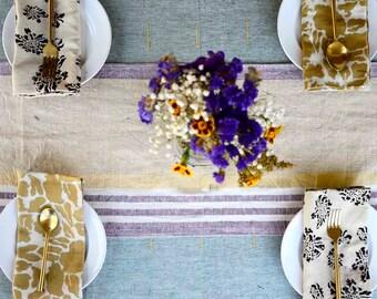 light green organic Cotton handwoven Table cloth, Bohemian Indian woven natural hand dye tabletop, wedding dining - CALM SAMPLE