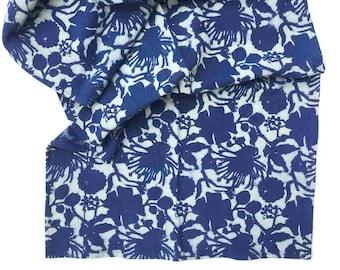 Blue Formal Dining Table Runner Floral Indigo Block Print SAMPLE SALE Table Linens Organic Cotton Housewarming Gift, shabby chic - Radha