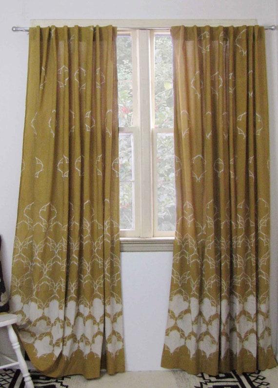 Merveilleux Mustard Yellow Window Panels Curtains Drapes Bedroom Curtain | Etsy