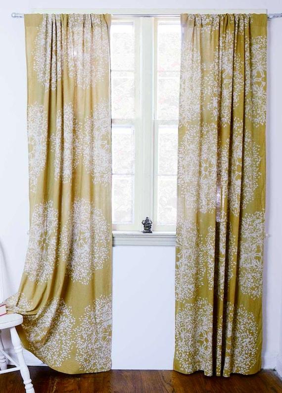 Gelbe Vorhänge Gelb Senf Fenster Vorhang Behandlung Mit | Etsy