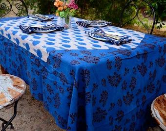Floral Rectangle Tablecloth / Floral Garden print / organic cotton / Pink Wedding Table Decor -  Rani Tablecloth