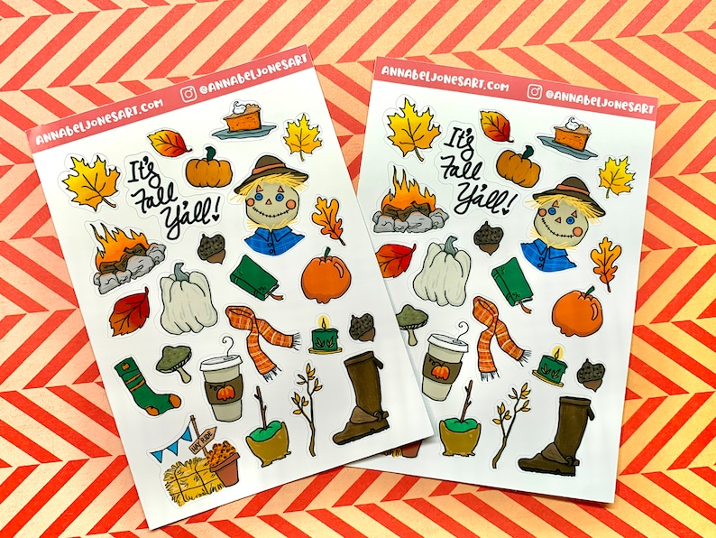 Glossy Fall Stickers image 0