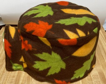Fleece Igloo Cover, Reversible with Fall Leaves, Ready to Ship