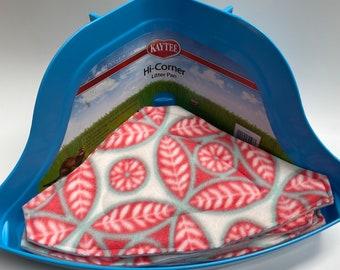 Peach Mosaic Corner Litter Pee Pads, Set of 4, Ready to ship, Eco Friendly